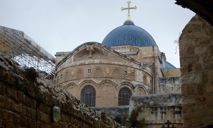 $1.3 million in support given for the conservation work on the structure that houses the tomb of Christ