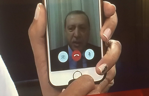 A military coup foiled by FaceTime with Erdogan
