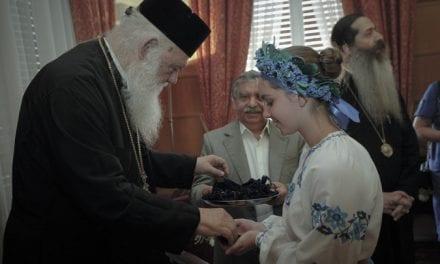 Νέοι από την Ουκρανία επισκέπτονται τον Αρχιεπίσκοπο Αθηνών