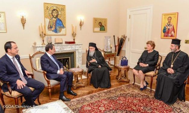 Επίσκεψη Αναστασιάδη στην Αριχεπισκοπή Αμερικής