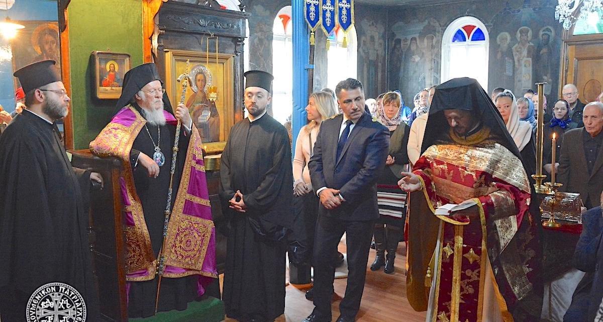 Ο Οικουμενικός Πατριάρχης στο Ι. Βατοπαιδινό Μετόχι του Αγίου Ανδρέου στον Γαλατά